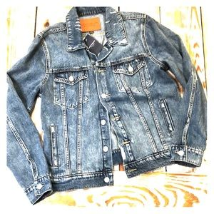 Lucky Brand Tomboy Trucker Blue Jean Denim Jacket